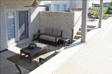 Covered Patio Below Wooden Deck; Madison Custom Homes Inc., Indianapolis, Indiana