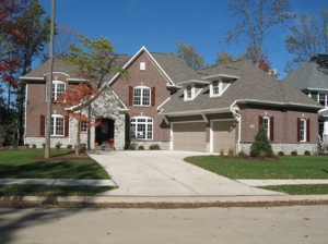 Custom Home Noblesville: Brick / Stone Exterior, Bonus Room, Extra-wide 2-Car Garage - Madison Custom Homes Inc., Indianapolis, Indiana