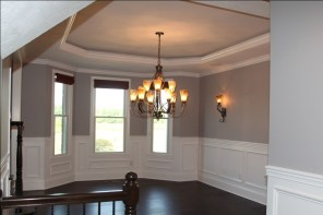 Custom Luxury Home, Formal Dining Room, Recessed Ceiling, Custom Molding, Chandelier, Wall Sconces, Central Indiana, Madison Custom Homes Inc., Indianapolis, IN