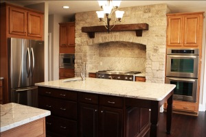 Custom Home Kitchen, Opens to Family / Great Room, Stainless Steel Utility Sink, Granite Countertops, Noblesville, Indiana - Madison Custom Homes Inc.