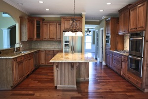 Custom Kitchen, Stainless Steel Appliances / Vent Hood, Granite Countertops, Hardwood Floor, Luxury Homes Built, Indianapolis, Central Indiana, Madison Custom Homes Inc.