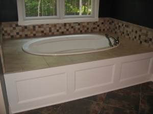 Master Bathroom: Built-In Bath Tub, Wood / Tile Enclosure, Custom Luxury Homes Built, Indianapolis, Indiana, Madison Custom Homes, Inc.