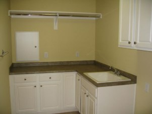 Custom Home Builder, Utility Room, Large Sink Basin, Under-Counter Storgae; Indianapolis, Central Indiana - Madison Custom Homes Inc.