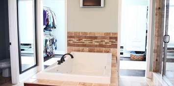 Bathroom and Walk-In Closet of Custom Luxury Home by Madison Custom Homes Inc. - Central Indiana