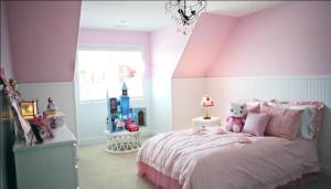 Girl's Bedroom of Custom Luxury Home