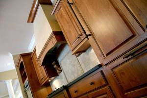 Custom Kitchen, Double Ovens, Custom-Built Wood Cabinetry & Trim