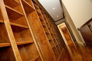 Built In, Custom-Designed Hand-Made Library Bookcase / Bookshelves