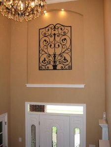 Crystal Chandelier, Wrought Iron Wall Art, Accent Lighting, Custom Luxury Homes Built to Your Specifications, Indianapolis, Central Indiana, Madison Custom Homes Inc.