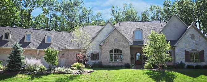 Custom Luxury Home, Stone / Brick Exterior, 3-Car Garage, Skylights, Window Shutters - Madison Custom Homes, Inc., Indianapolis, Indiana