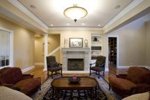Family Room of Custom Luxury Home by Madison Custom Homes Inc. - Central Indiana