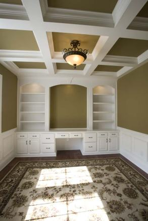 Home Office of Custom Luxury Home by Madison Custom Homes Inc. - Central Indiana