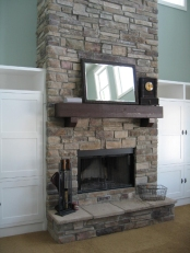 Luxury Home Great Room Carmel: Custom-Designed Fireplace, Glass Screen, Indianapolis, Central Indiana - Madison Custom Homes Inc.