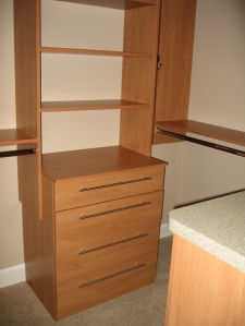 Custom Wood Drawers in Master Bedroom Walk-In Closet - McCordsville, Indianapolis, Indiana, Madison Custom Homes, Inc.