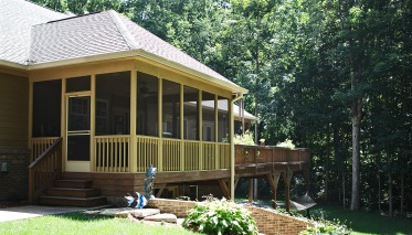 Veranda of Custom Luxury Home by Madison Custom Homes Inc. - Central Indiana