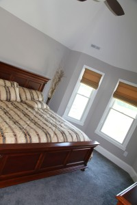 Master Bedroom, Curved Exterior Wall, Lighted Ceiling Fan