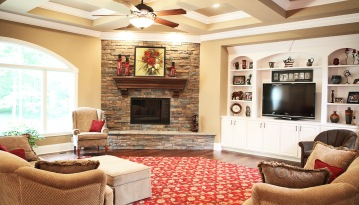 Custom Homes, Open Floor Plans Designed to Your Specifications, Kitchen, Dining Room, Family Room, Indianapolis, Central Indiana, Madison Custom Homes Inc.