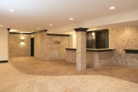 Basement of Custom Luxury Home by Madison Custom Homes Inc. - Central Indiana