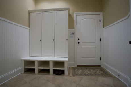 Transition Mud Room of Custom Luxury Home by Madison Custom Homes Inc. - Central Indiana