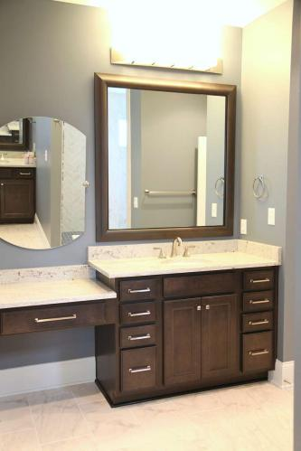 Bathroom of Central Indiana Custom Home built by Madison Custom Homes Inc.