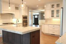 Kitchen Island in Custom Home in Central Indiana built by Madison Custom Homes Inc.