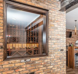 Wine Cellar Window - Custom Luxury Home Design Detail - Madison Custom Homes, Inc - Central Indiana
