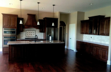 Kitchen of Central Indiana Custom Home built by Madison Custom Homes Inc.