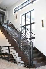Hand-Built Staircase in Central Indiana Custom Home built by Madison Custom Homes Inc.